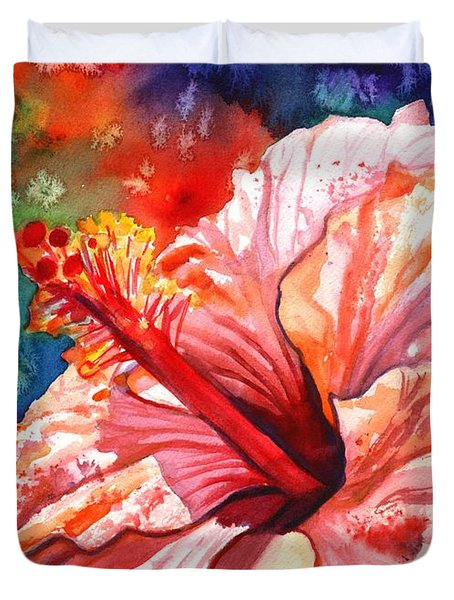 Tropical Pink Hibiscus Duvet Cover