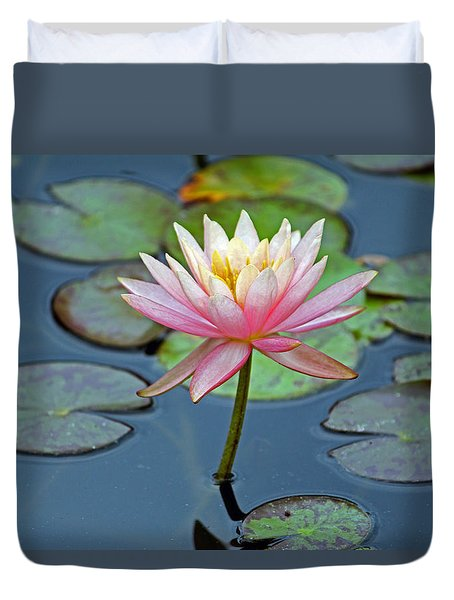 Tropical Pink Lily Duvet Cover