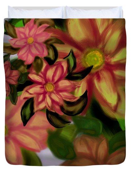 Tropical Plaid Duvet Cover by Christine Fournier