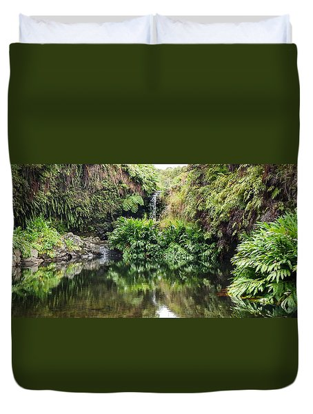 Tropical Reflections Duvet Cover