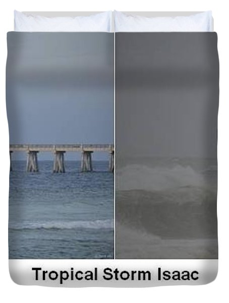Tropical Storm Isaac Difference In A Day Duvet Cover by Jeff at JSJ Photography