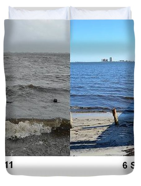 Tropical Storm Lee Difference A Day Makes Duvet Cover by Jeff at JSJ Photography