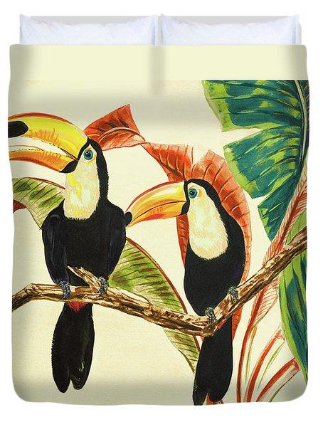 Tropical Toucans I Duvet Cover