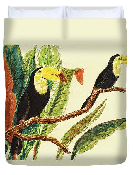Tropical Toucans II Duvet Cover