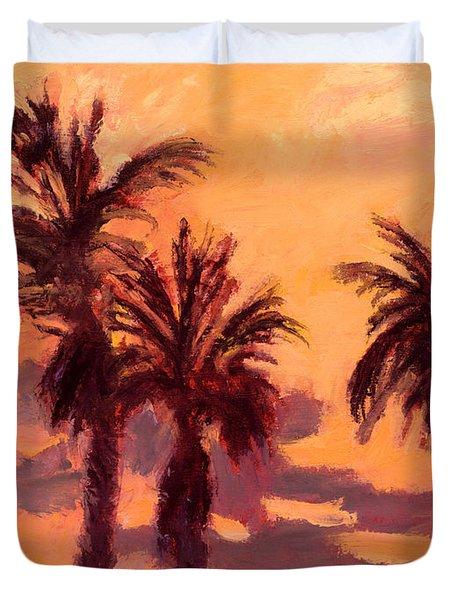 Tropical Trees Duvet Cover by J Reifsnyder