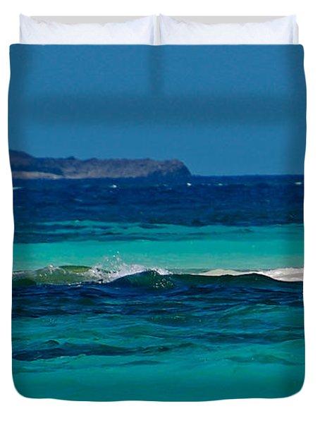 Duvet Cover featuring the photograph Tropical Umbrella by Don Schwartz