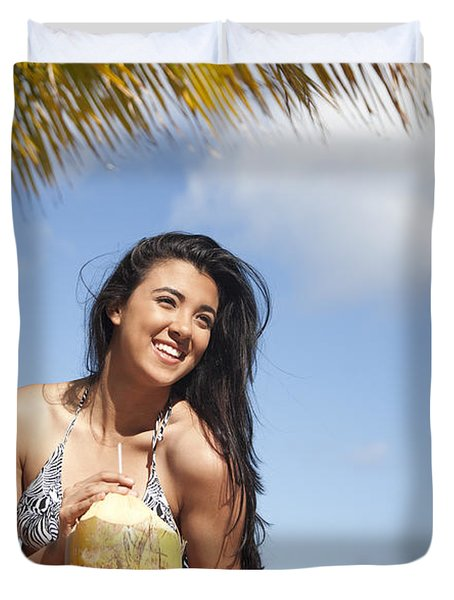 Tropical Vacationer Duvet Cover by Brandon Tabiolo