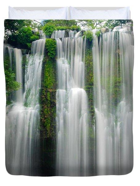 Tropical Waterfall Duvet Cover by Oscar Gutierrez