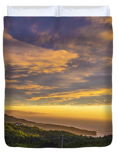 Trout River Sunset Duvet Cover