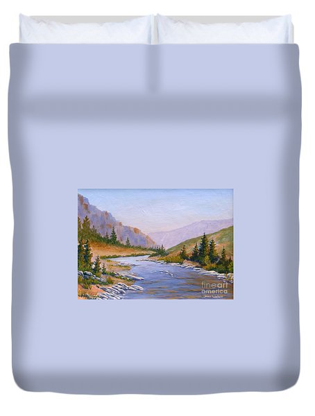 Trout Stream Duvet Cover