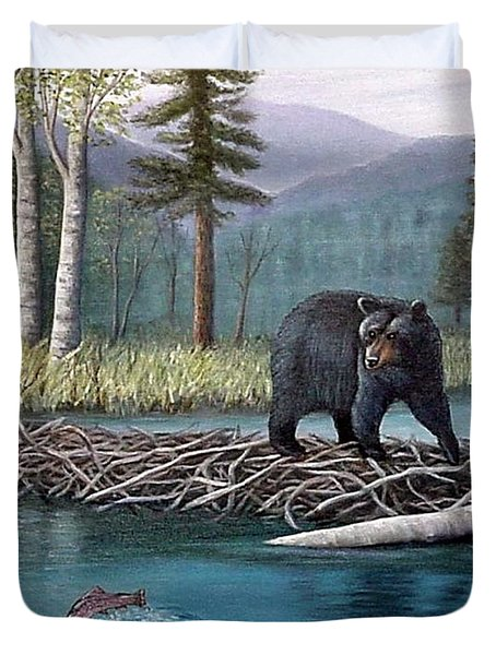 Trout Temptation Duvet Cover