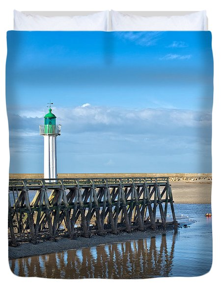 Trouville Lighthouse Duvet Cover