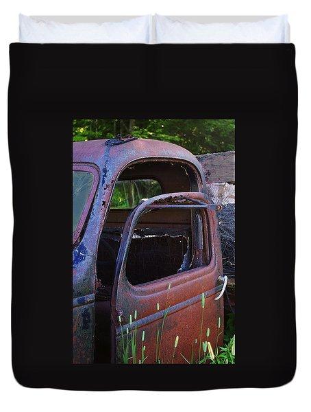 Truck And  Door Duvet Cover by Randy Pollard