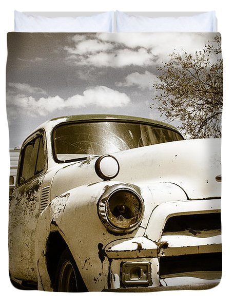 Duvet Cover featuring the photograph Truck And Trailer by Steven Bateson