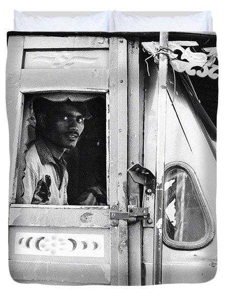 Truck Driver Duvet Cover