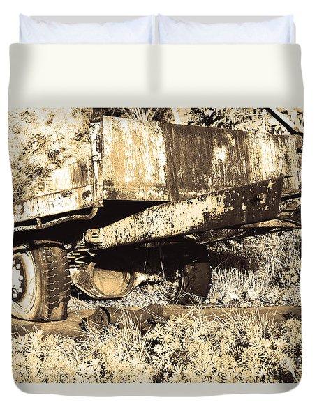 Truck Wreckage II Duvet Cover by Cassandra Buckley