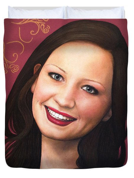 True Beauty - Tasha Rissling Duvet Cover by Malinda Prudhomme