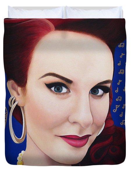 True Beauty - Tia Brazda Duvet Cover by Malinda Prudhomme