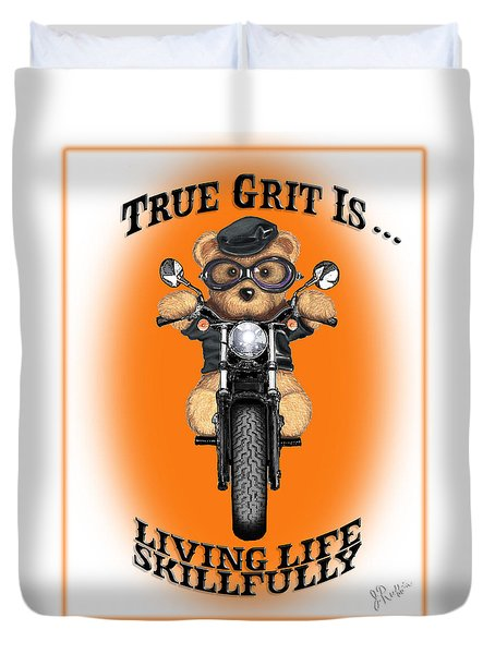 True Grit Duvet Cover by Jerry Ruffin
