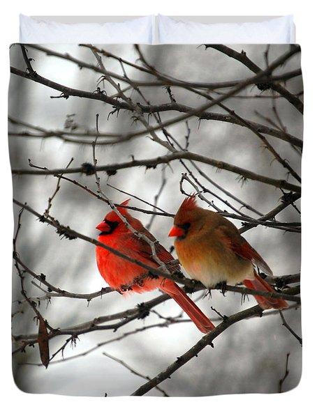True Love Cardinal Duvet Cover