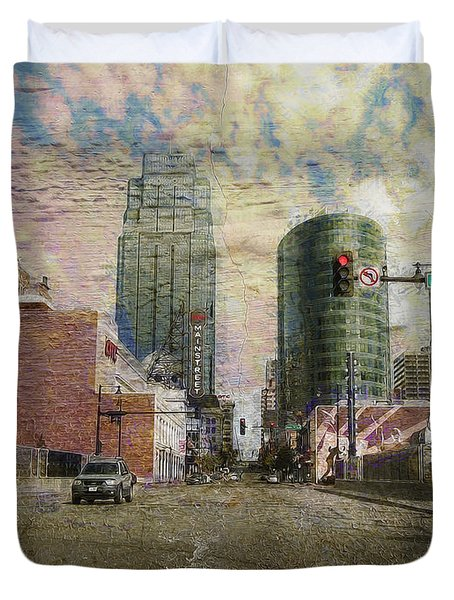 Truman Road Kansas City Missouri Duvet Cover by Liane Wright
