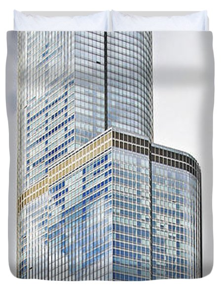 Trump Tower Chicago - A Surplus Of Superlatives Duvet Cover by Christine Till
