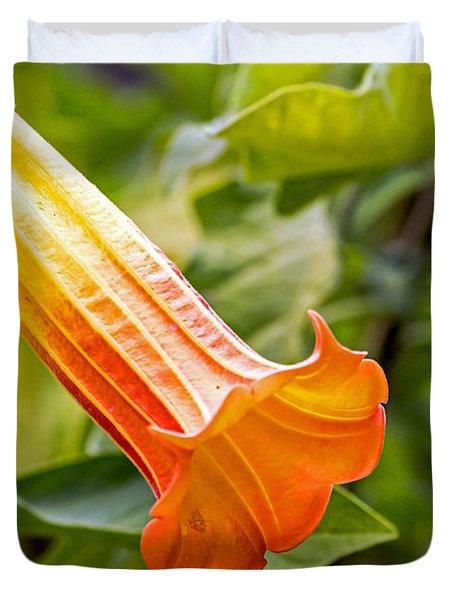 Trumpet Flower Duvet Cover