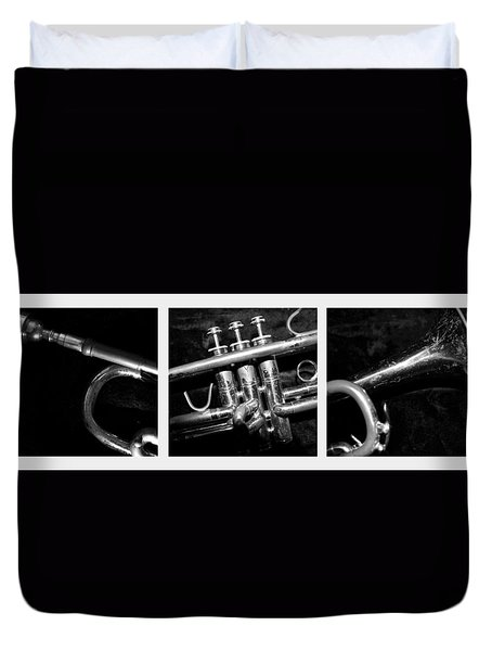 Trumpet Triptych Duvet Cover by Photographic Arts And Design Studio