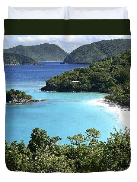 Duvet Cover featuring the photograph Trunk Bay II by Carol  Bradley
