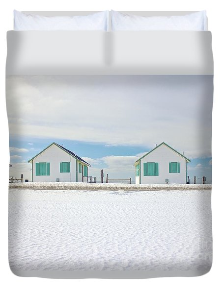 Truro Cottages Duvet Cover by Amazing Jules