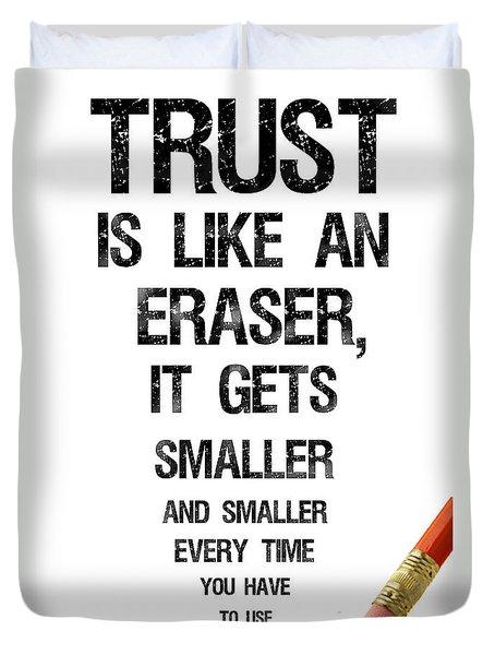 Trust Duvet Cover by Jean Haynes