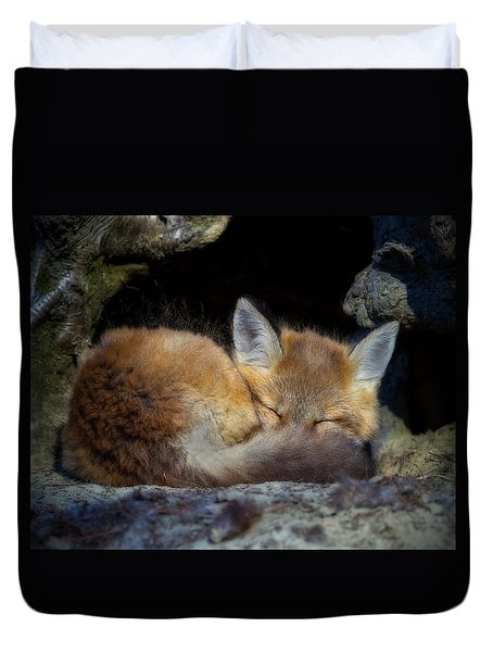 Fox Kit - Trust Duvet Cover