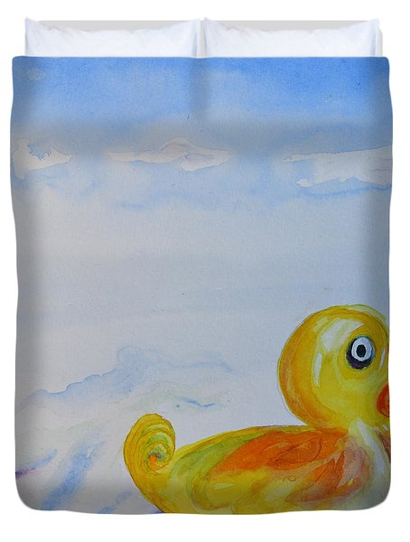 Trying Out The Big Water Duvet Cover by Beverley Harper Tinsley