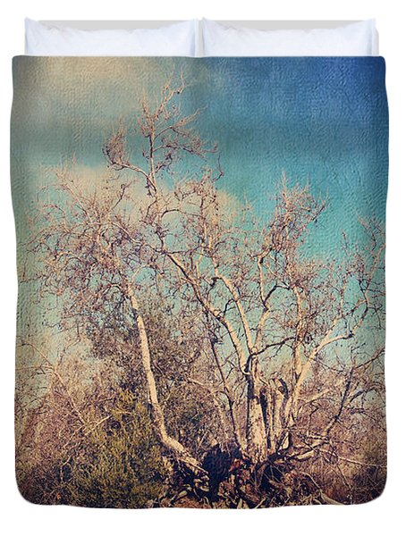Trying To Survive Duvet Cover by Laurie Search