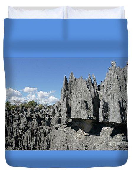 Tsingy De Bemaraha Madagascar 2 Duvet Cover by Rudi Prott
