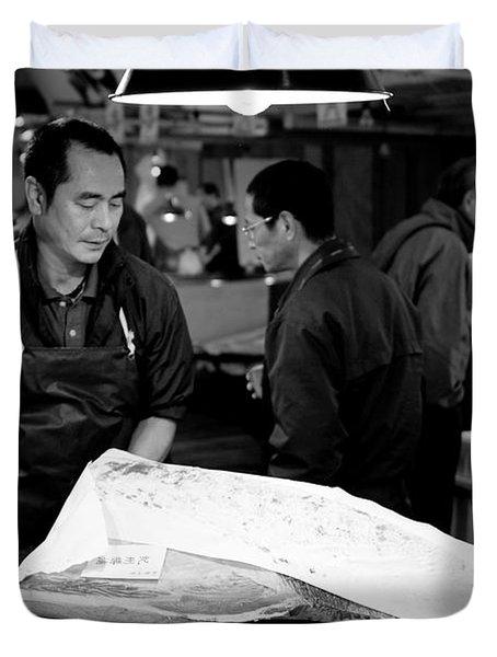 Tsukiji Tokyo Fish Market Duvet Cover by Sebastian Musial