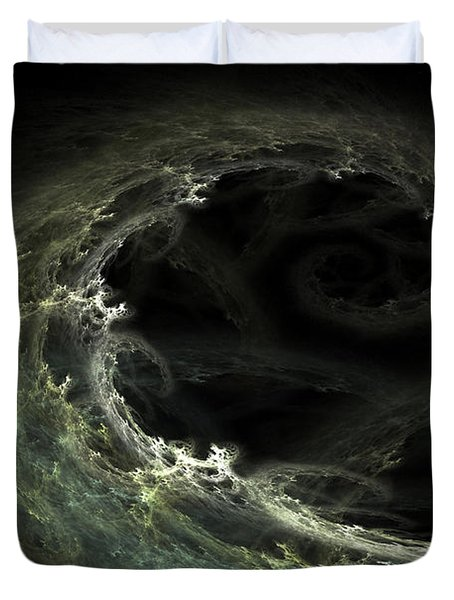 Duvet Cover featuring the digital art Tsunami by Richard Ortolano
