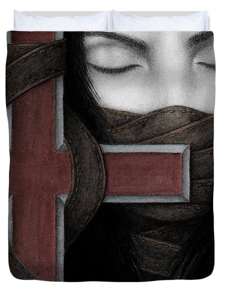 Tu Non Duvet Cover by Pat Erickson