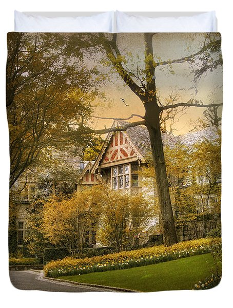 Tudor In Spring Duvet Cover