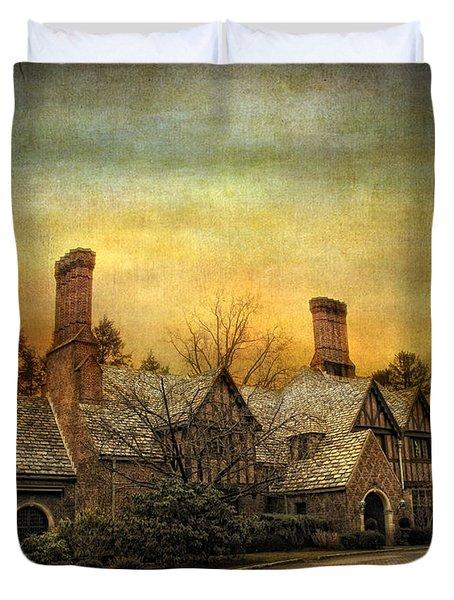 Tudor In Winter Duvet Cover