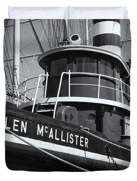 Tugboat Helen Mcallister II Duvet Cover by Clarence Holmes
