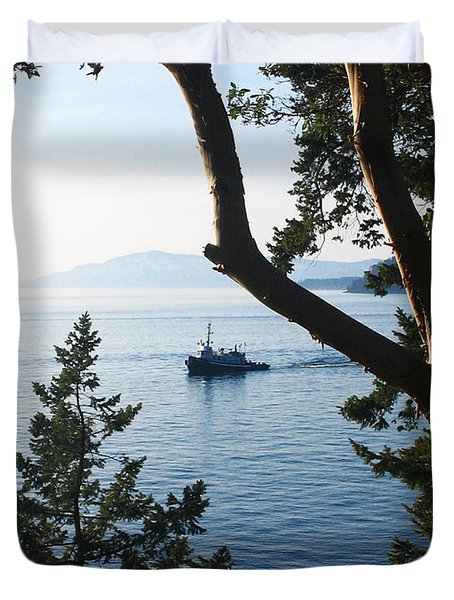 Tugboat Passes Duvet Cover