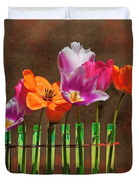 Tulip Experiments Duvet Cover