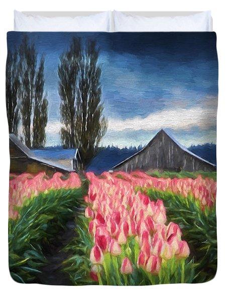 Tulip Farm Duvet Cover
