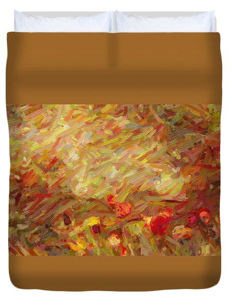 Tulip Garden Abstract Duvet Cover by Kenny Francis