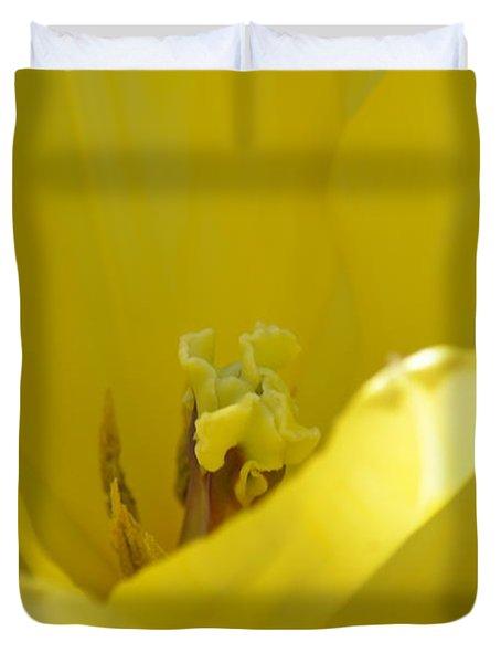 Tulip Heart Duvet Cover by Maria Urso