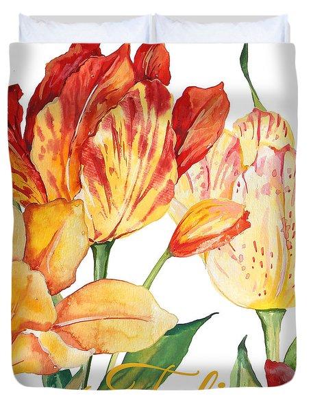 Tulip-jp2583 Duvet Cover by Jean Plout