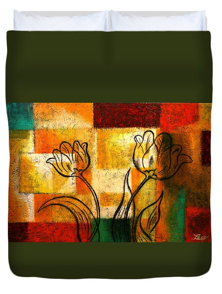 Tulip Duvet Cover by Leon Zernitsky