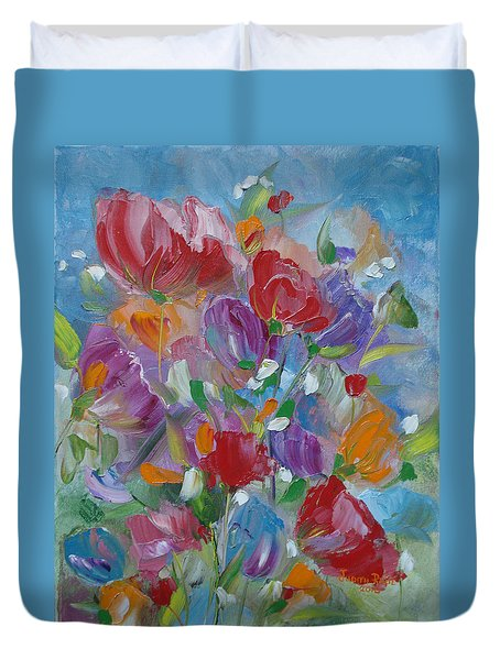 Tulip Symphony Duvet Cover by Judith Rhue