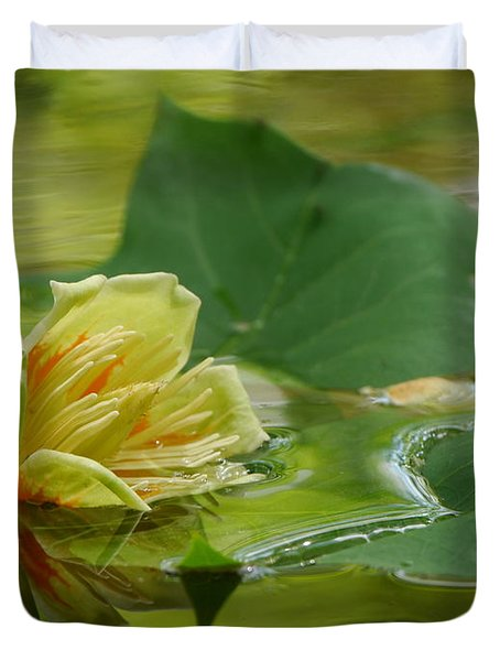 Tulip Tree Flower Duvet Cover